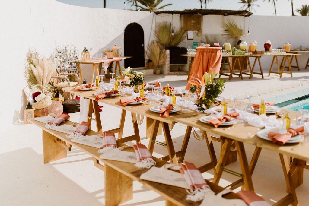 mariage bohème aux tonalités terracotta | Make My Wed, Tunisie | Juli Etta Photography